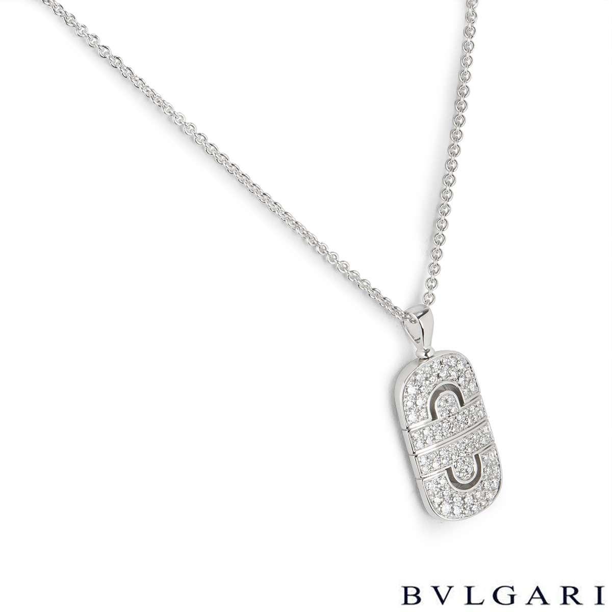 Bvlgari White Gold Parentesi Diamond Pendant